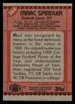 1990 Topps #364  Mark Spindler  Back Thumbnail
