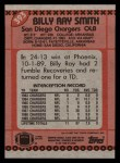 1990 Topps #393  Billy Ray Smith  Back Thumbnail