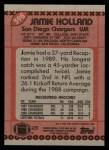 1990 Topps #398  Jamie Holland  Back Thumbnail