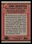 1990 Topps #416  Chris Singleton  Back Thumbnail