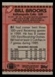 1990 Topps #309  Bill Brooks  Back Thumbnail