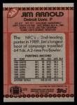 1990 Topps #363  Jim Arnold  Back Thumbnail