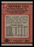 1990 Topps #397  Arthur Cox  Back Thumbnail