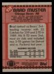 1990 Topps #372  Brad Muster  Back Thumbnail