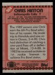 1990 Topps #304  Chris Hinton  Back Thumbnail