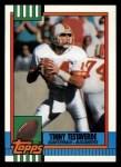 1990 Topps #407  Vinny Testaverde  Front Thumbnail