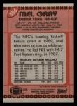 1990 Topps #356  Mel Gray  Back Thumbnail