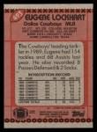1990 Topps #493  Eugene Lockhart  Back Thumbnail