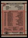 1990 Topps #505   Browns Highlights Back Thumbnail