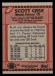 1990 Topps #466  Scott Case  Back Thumbnail