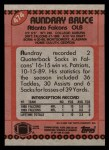 1990 Topps #474  Aundray Bruce  Back Thumbnail