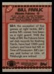 1990 Topps #478  Bill Fralic  Back Thumbnail