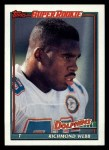 1991 Topps #117  Richmond Webb  Front Thumbnail