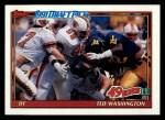 1991 Topps #60  Ted Washington  Front Thumbnail