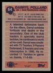 1991 Topps #64  Darryl Pollard  Back Thumbnail