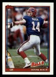 1991 Topps #49  Frank Reich  Front Thumbnail