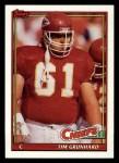 1991 Topps #144  Tim Grunhard  Front Thumbnail