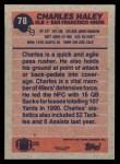1991 Topps #78  Charles Haley  Back Thumbnail