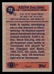 1991 Topps #72  Keith DeLong  Back Thumbnail