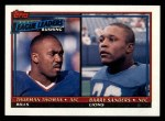 1991 Topps #9   -  Thurman Thomas / Barry Sanders Rushing Leaders Front Thumbnail