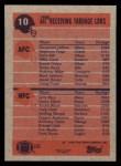 1991 Topps #10  Jerry Rice / Haywood Jeffires  Back Thumbnail