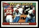 1991 Topps #7  Warren Moon  Front Thumbnail