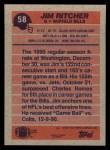 1991 Topps #58  Jim Ritcher  Back Thumbnail