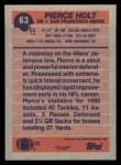 1991 Topps #63  Pierce Holt  Back Thumbnail