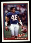 1991 Topps #53  Leonard Smith  Front Thumbnail
