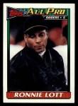 1991 Topps #97  Ronnie Lott  Front Thumbnail