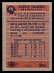 1991 Topps #45  Steve Tasker  Back Thumbnail