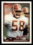 1991 Topps #197  Wilber Marshall  Front Thumbnail