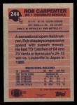1991 Topps #244  Rob Carpenter  Back Thumbnail