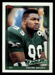 1991 Topps #205  Jerome Brown  Front Thumbnail