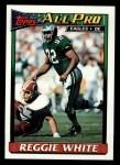 1991 Topps #212  Reggie White  Front Thumbnail