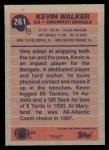 1991 Topps #261  Kevin Walker  Back Thumbnail