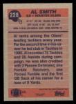 1991 Topps #228  Al Smith  Back Thumbnail