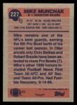1991 Topps #227  Mike Munchak  Back Thumbnail