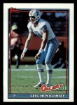 1991 Topps #226  Greg Montgomery  Front Thumbnail