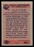 1991 Topps #175  Trace Armstrong  Back Thumbnail