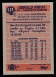 1991 Topps #178  Gerald Riggs  Back Thumbnail