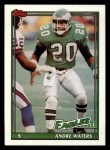 1991 Topps #208  Andre Waters  Front Thumbnail