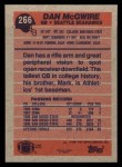 1991 Topps #266  Dan McGwire  Back Thumbnail