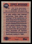 1991 Topps #280  Terry Wooden  Back Thumbnail
