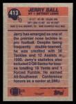 1991 Topps #413  Jerry Ball  Back Thumbnail