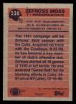 1991 Topps #336  Zefross Moss  Back Thumbnail