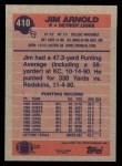 1991 Topps #410  Jim Arnold  Back Thumbnail