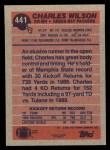 1991 Topps #441  Charles Wilson  Back Thumbnail