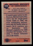 1991 Topps #559  Michael Brooks  Back Thumbnail