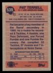 1991 Topps #539  Pat Terrell  Back Thumbnail